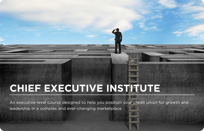 Chief Executive Institute - An executive-level course designed to help you position your credit union for growth and leadership in a complex and ever-changing marketplace